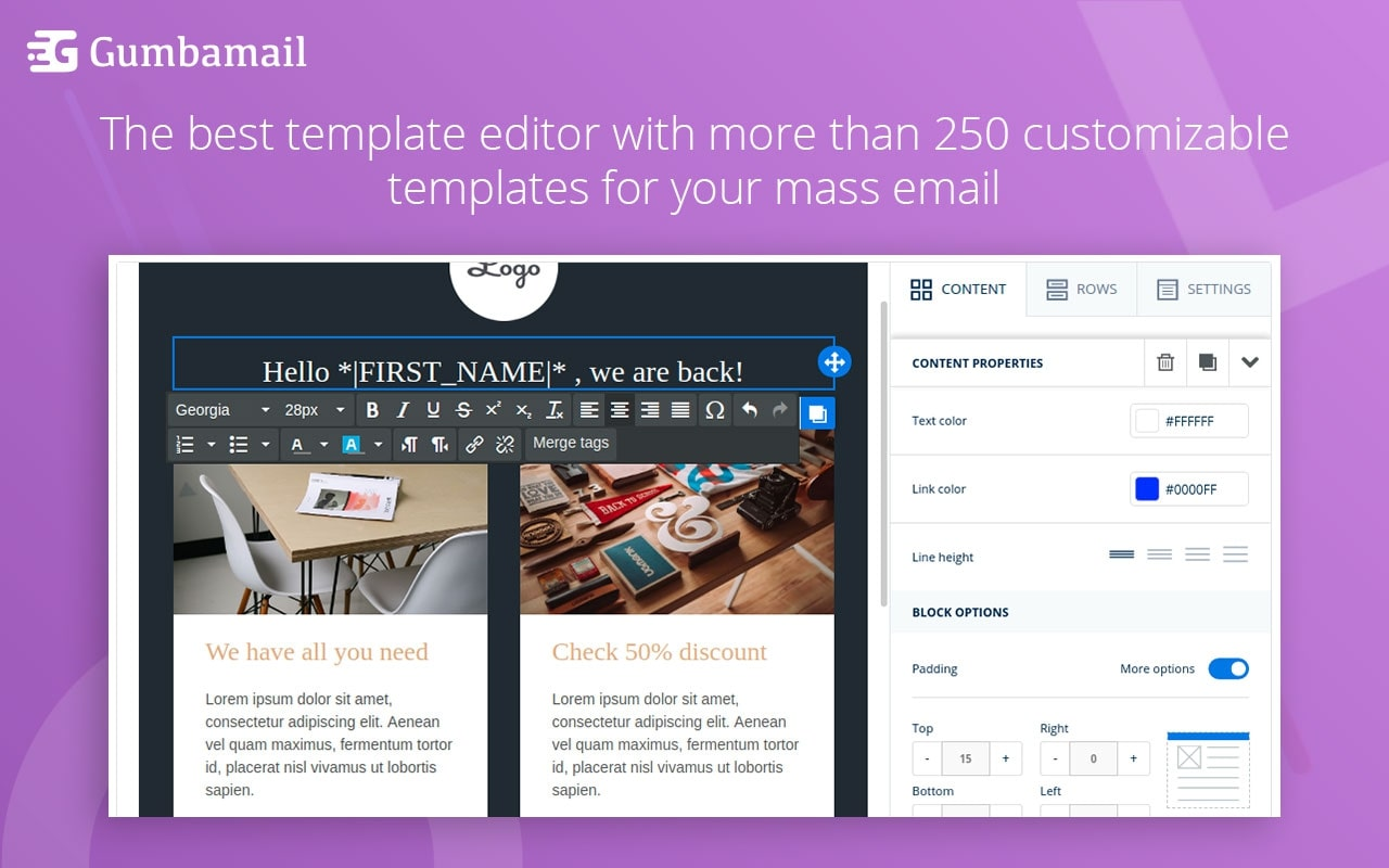 YAMM: Gumbamail email templates